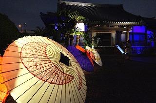【入賞】正定寺に和傘の花_岸川信廣